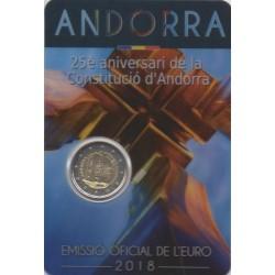 Andorre - 2018 - 25 ans de la constitution de la Principauté d'Andorre