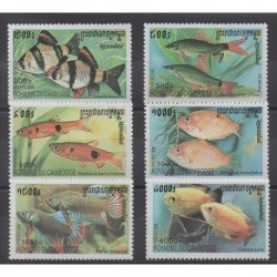 Cambodge - 1999 - No 1667/1672 - Animaux marins