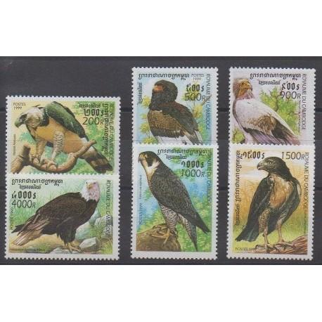 Cambodge - 1999 - No 1677/1682 - Oiseaux