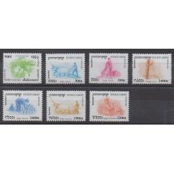 Cambodge - 2000 - No 1734/1740 - Artisanat ou métiers