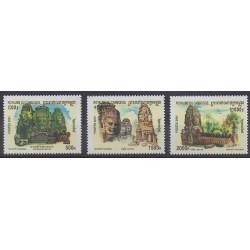 Cambodge - 2001 - No 1835/1837 - Tourisme