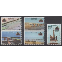 Cambodge - 2003 - No 1905/1909 - Ponts