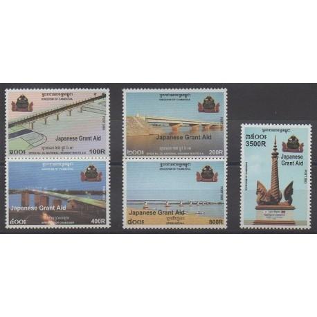 Cambodge - 2003 - No 1905/1909 - Ponts