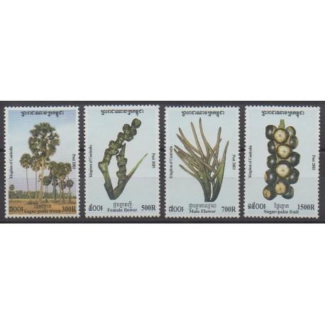 Cambodge - 2003 - No 1901/1904 - Arbres - Fruits ou légumes