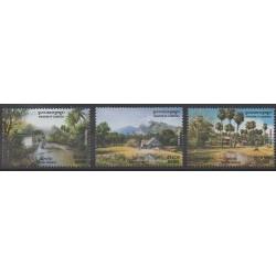 Cambodge - 2004 - No 1940/1942 - Sites