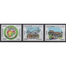 Cambodge - 1999 - No 1674/1676 - Histoire