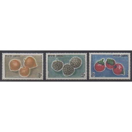 Cambodge - 1962 - No 122/124 - Fruits ou légumes