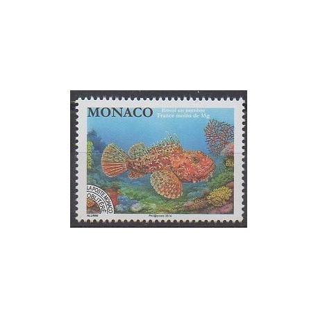 Monaco - Préoblitérés - 2014 - No P116 - Animaux marins