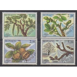 Monaco - Préoblitérés - 1992 - No P110/P113 - Arbres - Fruits ou légumes