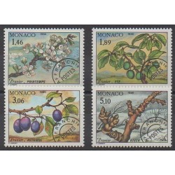 Monaco - Precancels - 1990 - Nb P106/P109 - Trees - Fruits or vegetables