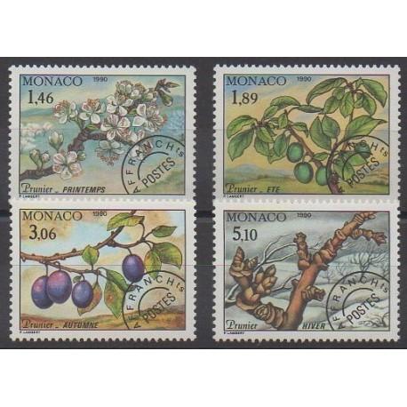 Monaco - Préoblitérés - 1990 - No P106/P109 - Arbres - Fruits ou légumes