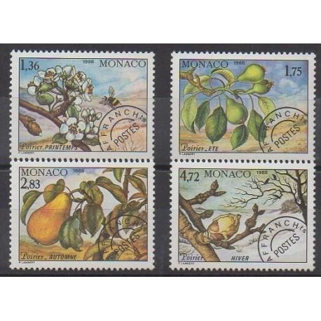 Monaco - Préoblitérés - 1989 - No P102/P105 - Arbres - Fruits ou légumes