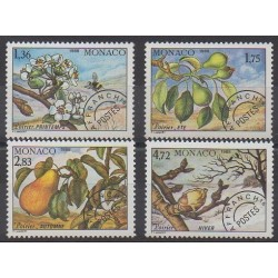 Monaco - Precancels - 1988 - Nb P98/P101 - Trees - Fruits or vegetables