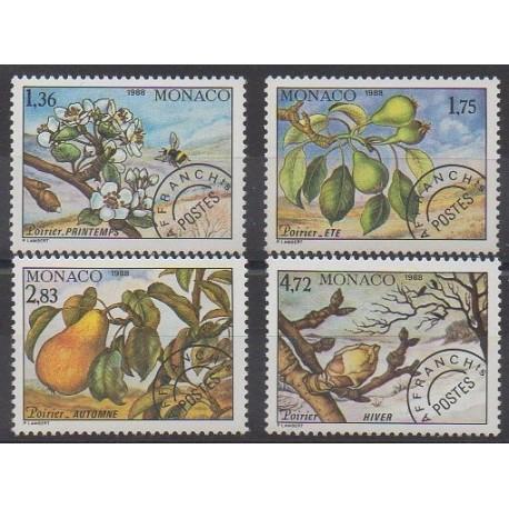 Monaco - Préoblitérés - 1988 - No P98/P101 - Arbres - Fruits ou légumes