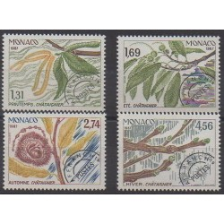 Monaco - Precancels - 1987 - Nb P94/P97 - Trees - Fruits or vegetables