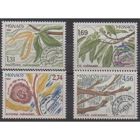 Monaco - Préoblitérés - 1987 - No P94/P97 - Arbres - Fruits ou légumes
