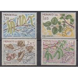 Monaco - Préoblitérés - 1986 - No P90/P93 - Arbres - Fruits ou légumes