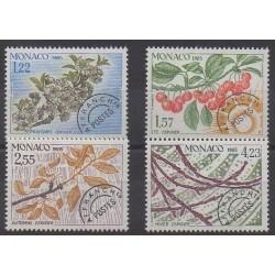 Monaco - Préoblitérés - 1985 - No P86/P89 - Arbres - Fruits ou légumes