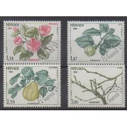 Monaco - Préoblitérés - 1984 - No P82/P85 - Arbres - Fruits ou légumes