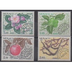Monaco - Precancels - 1981 - Nb P78/P81 - Trees - Fruits or vegetables