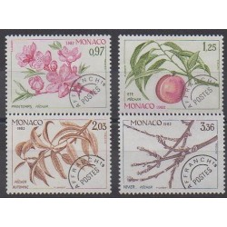Monaco - Precancels - 1982 - Nb P74/P77 - Trees - Fruits or vegetables
