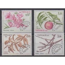 Monaco - Préoblitérés - 1982 - No P74/P77 - Arbres - Fruits ou légumes
