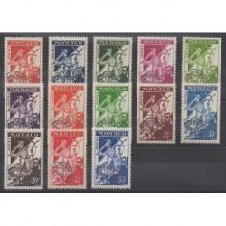 Monaco - Préoblitérés - 1954 - No P11/P18