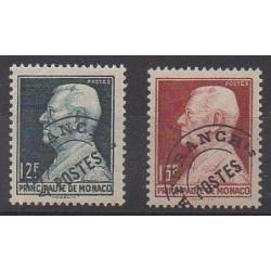 Monaco - Precancels - 1949 - Nb P6/P7
