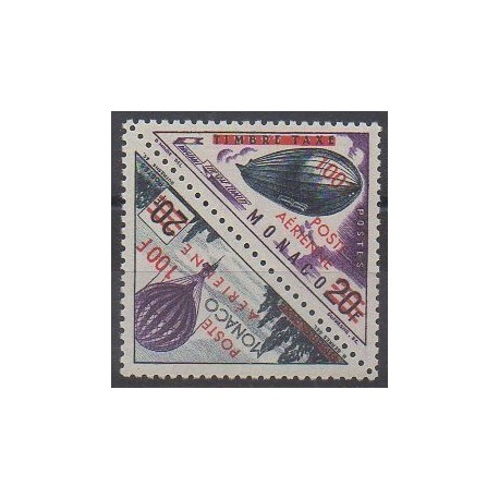 Monaco - Poste aérienne - 1956 - No PA61/PA62 - Ballons - Dirigeables