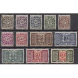Monaco - Timbres-taxe - 1946 - No T29/T39