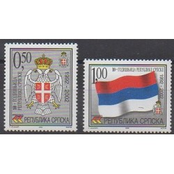 Bosnia and Herzegovina Serbian Republic - 2002 - Nb 215/216 - Coats of arms - Flags