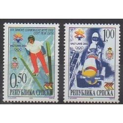 Bosnie-Herzégovine République Serbe - 2002 - No 218/219 - Jeux olympiques d'hiver