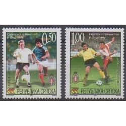 Bosnie-Herzégovine République Serbe - 2002 - No 228/229 - Coupe du monde de football