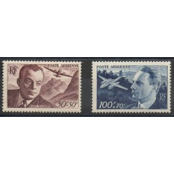 France - Airmail - 1947 - Nb PA21 / PA22