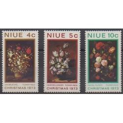 Niue - 1973 - Nb 146/148 - Christmas - Flowers