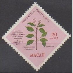 Macao - 1958 - No 385 - Santé ou Croix-Rouge - Flore