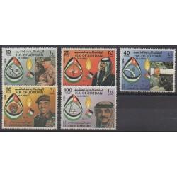 Jordanie - 1985 - No 1188/1192 - Royauté - Principauté