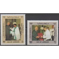 Jordanie - 1988 - No 1241/1242 - Royauté - Principauté