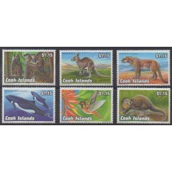 Cook (Islands) - 1992 - Nb 1043/1048 - Animals - Endangered species - WWF