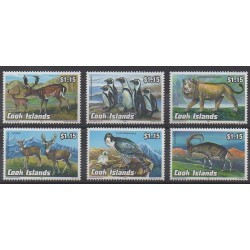 Cook (Islands) - 1992 - Nb 1071/1076 - Animals - Endangered species - WWF