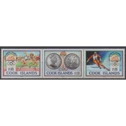 Cook (Iles ) - 1990 - No 1010/1012 - Jeux Olympiques d'été - Jeux olympiques d'hiver