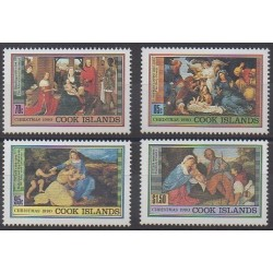 Cook (Islands) - 1990 - Nb 1014/1017 - Christmas - Paintings