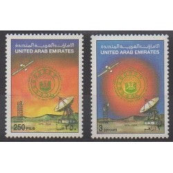 Emirats arabes unis - 1986 - No 191/192 - Télécommunications