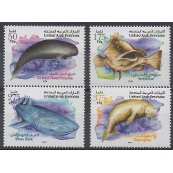 United Arab Emirates - 2004 - Nb 743/746 - Animals - Endangered species - WWF