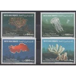 Emirats arabes unis - 1999 - No 603/606 - Animaux marins - Environnement