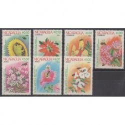 Nicaragua - 1984 - Nb 1326/1329 - PA1056/PA1059 - Flowers