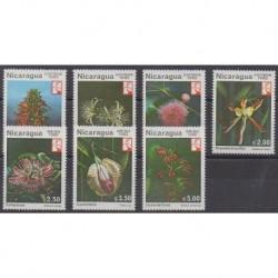 Nicaragua - 1982 - Nb 1218/1221 - PA1004/PA1006 - Flowers