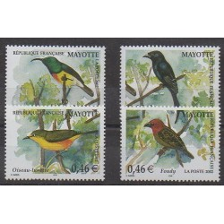 Mayotte - 2002 - Nb 134/137 - Birds