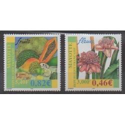 Mayotte - 2001 - No 106/107 - Fruits ou légumes - Fleurs