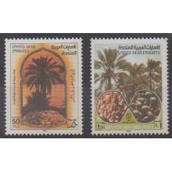 United Arab Emirates - 1987 - Nb 222/223 - Trees - Fruits or vegetables